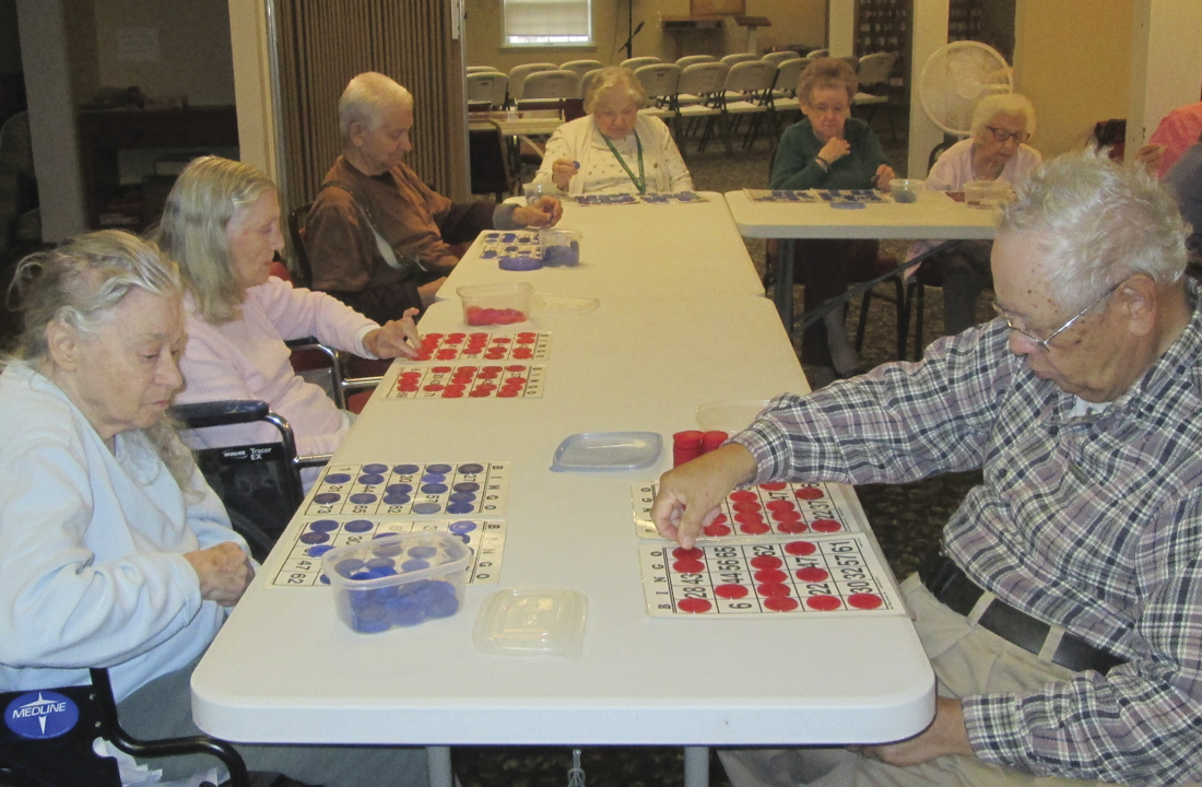 Residents Playing Bingo