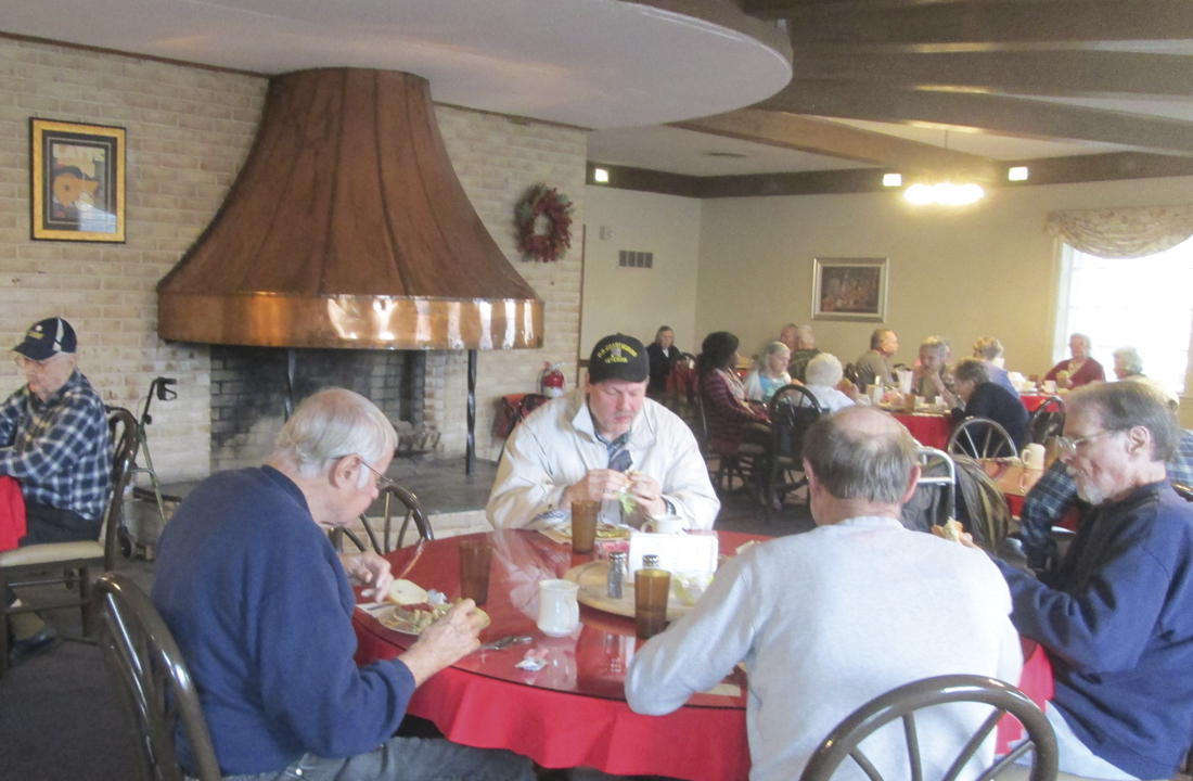 Residents in Dining Hall