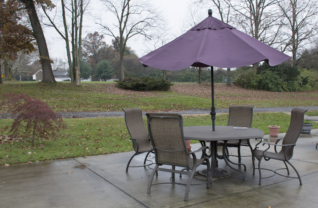 Outdoor Seating with Umbrella