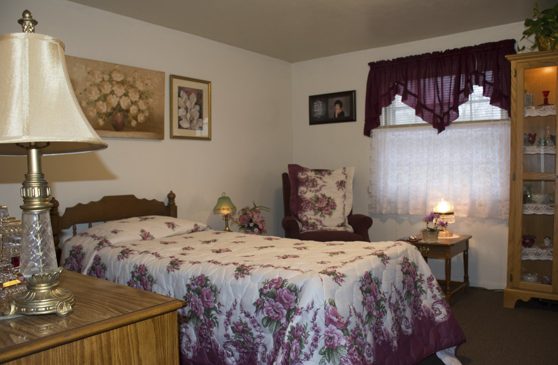 Resident Bedroom with Floral Design