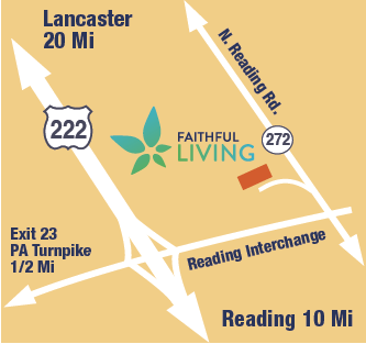 Faithful Living Directions Map