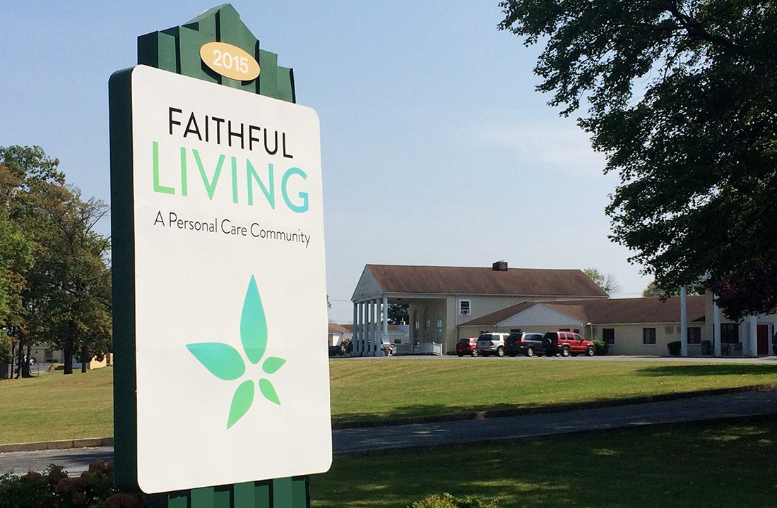 Outdoor Faithful Living Sign