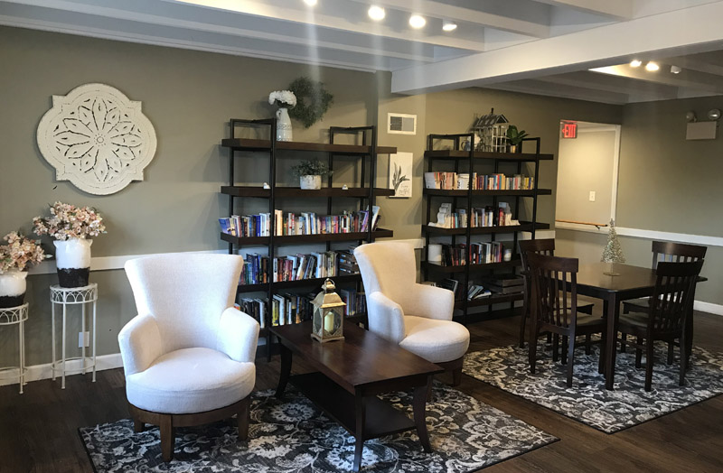 Seating and Library Area